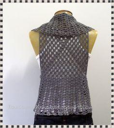 louca por linhas - crochet e patchwork: Colete New Grey