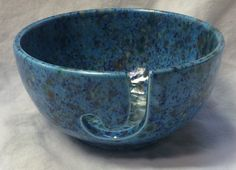 "A 3""x 6"" Yarn Bowl, beautifully hand painted - READY TO SHIP"