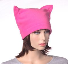 79bf2aa8ed206d Pink Pussy Hat Made of Fleece Woman's Cat Cap by MountainGoth Fleece  Projects, Fleece Crafts