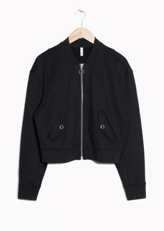 & Other Stories   Boxy Bomber Sweater