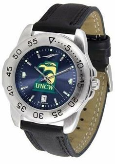 North Carolina Wilmington Seahawks UNCW NCAA Mens Sport Anochrome Watch by SunTime. $55.95. Men. Officially Licensed North Carolina Wilmington Seahawks Men's Leather Band Sports Watch. AnoChrome Dial Enhances Team Logo And Overall Look. Leather Band. Adjustable Band. This handsome eye-catching Mens Sport AnoChrome Watch with Leather Band comes with a genuine leather strap. A date calendar function plus a rotating bezel/timer circles the scratch resistant crystal. Sport the bo...