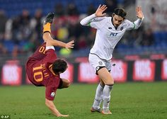 Totti, the experienced striker, in action during the Coppa Italia quarter-final in Rome