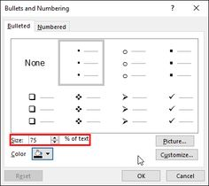Customize the Bullet Size and Color in #PowerPoint 2016 for Windows