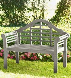 Inspired by the early works of Edwin Lutyens our bench is built from FSC-certified eucalyptus wood. Sustainable and sturdy the naturally durable wood features a quality finish for a beautiful low-maintenance product. Garden Benches Uk, Plastic Garden Bench, Garden Planter Boxes, Patio Bench, Patio Bar, Planters, Bench Swing, Polywood Outdoor Furniture, Used Outdoor Furniture