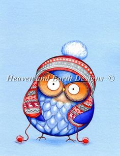 Winter Hat Owl [KAI2276] - $19.00 : Heaven And Earth Designs, cross stitch, cross stitch patterns, counted cross stitch, christmas stockings, counted cross stitch chart, counted cross stitch designs, cross stitching, patterns, cross stitch art, cross stitch books, how to cross stitch, cross stitch needlework, cross stitch websites, cross stitch crafts