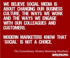 We believe #socialmedia is about changing our #business culture: Will you sign the Modern Marketing Manifesto? http://ecly.co/MoMaMa  #momama #social