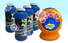 Bubbletastic Dog Bacon Bubbles Bundle - Dog Bubble Machine and Bubble Refills Witt Don't you think the kids would love this! Best Dog Toys, Best Dogs, Bubble Dog, Go Dog Go, Pet Parade, Bubble Machine, Huge Dogs, Interactive Dog Toys, Soap Bubbles