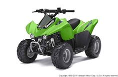 New 2014 Kawasaki KFX 50 ATVs For Sale in South Dakota. 2014 KAWASAKI KFX 50, When young riders age 6 years and older are looking to start riding ATVs with the rest of the family, they need look no further than the 2014 KFX50. With an environmentally friendly, air-cooled, four-stroke engine balanced on a wide 27.6-inch stance, Kawasaki's introductory ATV helps young learners build a solid foundation for years of safe riding.