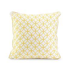 Yellow Compass Rose Throw Pillow | dotandbo.com