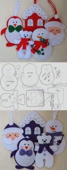 3 un Fieltro Navidad Copos De Nieve Adornos Glitter Scrapbooking Cardmaking