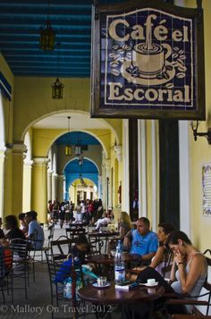 Cafe El Escorial in Old Havana, Cuba