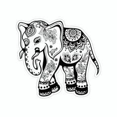 Mandala Art, Mandalas Drawing, Elephant Artwork, Tribal Elephant, Tribal Art, Mandala Elephant, Elephant Tattoo Design, Design Tattoo, Elephant Tattoos