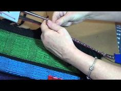 How to Weave a Card Woven Braid onto Fabric