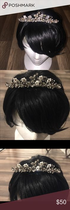 Tiara with diamonds and pearls Very beautiful tiara for that special occasion! Accessories Hair Accessories