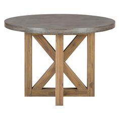 Boulder Ridge Round Dining Table Concrete Top Pedestal Base Furniture Kitchen Modern Pinterest And