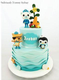 Happy Octonauts Birthday to Joshua! Fondant Cake Toppers, Fondant Cakes, Cupcake Cakes, Octanauts Cake, 5th Birthday Cake, Birthday Ideas, Octonauts Party, Kids Party Decorations, Party Ideas