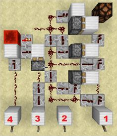 Can you solve this redstone puzzle? What's the combination? : Minecraft - Minecraft, Pubg, Lol and Amazing Minecraft Houses, Minecraft Farm, Minecraft Plans, Minecraft Construction, Minecraft Blueprints, Cool Minecraft, Minecraft Crafts, Minecraft Designs, Minecraft Redstone Tutorial