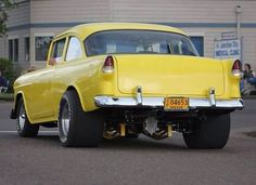 Love the stance Classic Hot Rod, Classic Cars, Classic Style, Rat Rods, Chevrolet Bel Air, 1955 Chevrolet, Chevrolet Chevelle, Chevy Muscle Cars, Sweet Cars