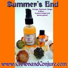 Crisp air, leaves start to fall, cold football nights and you're getting ready for Halloween frights! Start the season off right with Summer's end oil and pump spray. Made with Orange, Patchouli, Ginger and other essential oils in a Jojoba base. David Wood, Local Music, End Of Summer, Bath Salts, The Conjuring, Bath And Body, Crisp, Pump, Essential Oils