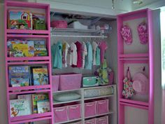 Adding full length shelves behind closet doors is a simple solution to controlling those overstuffed closets.