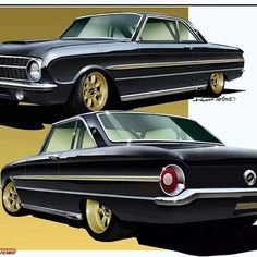 """201 Likes, 1 Comments - keith kaucher (@kaucher_kustoms) on Instagram: """"The 63 Falcon I designed for George Poteet he never built too bad it was going to be a cool car.…"""""""