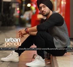 In his own movie 'Urban Pendu' Diljit Singh Dosanj relaxes. Punjabi Boys, Urban, Mens Fashion, Fashion Outfits, Mens Clothing Styles, Mens Suits, Cute Boys, Gentleman, Cool Style