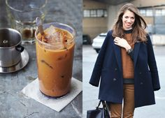 Food & Fashion Mash-Up: Bon Appétit Trois via Miss Moss / navy + warm browns