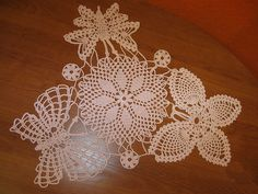 Free Crochet Thread Butterfly Patterns | Free Crochet Doily Pattern With Butterflies Circular | Free Crochet ...