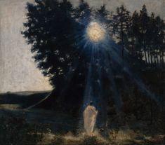 Jean Delville - Moonlit Landscape, 1890