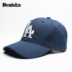 65b7b70dccc DENISKA Baseball Caps Letter LA Embroidery Hip Hop Outdoor Sports bone Snapback  Hats for Men Women Adjustable gorro masculino
