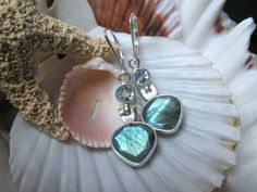 Sterling Silver Labradorite and Blue Topaz by EverythingIOwn, $40.00