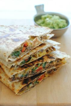 Give This Slow Cooker Chipotle Steak Quesadilla recipe a try, you won't regret it! Slow Cooker Recipes, Mexican Food Recipes, Crockpot Recipes, Cooking Recipes, Healthy Recipes, Mexican Dishes, I Love Food, Good Food, Yummy Food