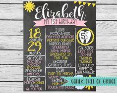 You Are My Sunshine Birthday - Chalkboard Sign by ChalkFullOfGrace on Etsy https://www.etsy.com/listing/209780378/you-are-my-sunshine-birthday-chalkboard