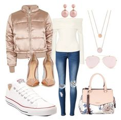 """""""Brunch then Errands"""" by aliciawiseman on Polyvore featuring Topshop, WithChic, The Row, Michael Kors, Converse, Fiorelli and Gianvito Rossi"""