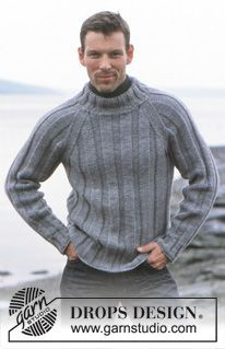 Of The Sea - DROPS Pullover in Alaska and Scarf in Eskimo - Free pattern by DROPS Design