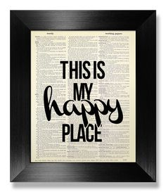 Home OFFICE Decor, College DORM Decor, Gift MAN Home Office Art, College Dorm Room Wall Decor, Cute Bedroom Artwork - This is My Happy Place by MEOWconcept on Etsy https://www.etsy.com/listing/210174183/home-office-decor-college-dorm-decor