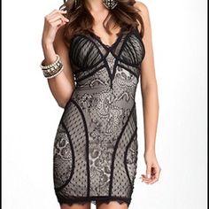 Bebe lace dress NWOT Bebe super sexy lace black dress. Never warn. bebe Dresses Mini