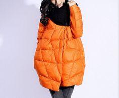Bud Style Down Coat Women Knit Large Collar Long Down Jacket Winter Loose Down Coat