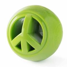 Orbee-Tuff Nooks Ball Dog Toy by Planet Dog - Peace