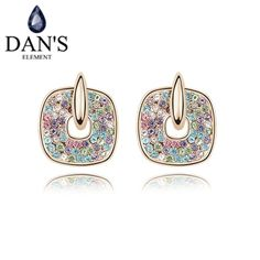 DAN'S 3 Colours Austrian Crystals    crystal Stud earrings for women New Sale Hot # 93226 #Affiliate