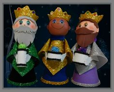Reyes Magos Christmas Time, Christmas Ornaments, Christmas Ideas, Sewing Dolls, Games For Kids, Bowser, Nativity, Origami, Reyes