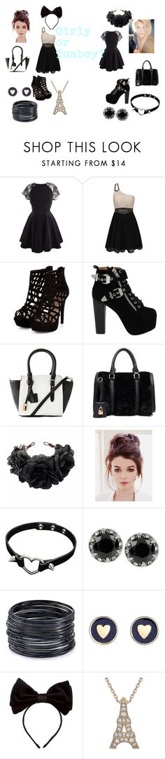 """""""Girly or Tomboy?"""" by dovepool ❤ liked on Polyvore featuring Little Mistress, Jeffrey Campbell, Isaac Mizrahi, Rock 'N Rose, Betsey Johnson, ABS by Allen Schwartz, Brooks Brothers and Benoît Missolin"""