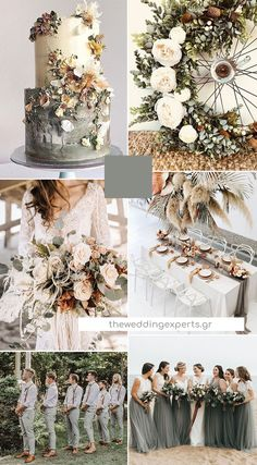 Top 10 Wedding Color Trends to Inspire in 2020 Top 10 Wedding Color Trends to Inspire in inspiration – Hochzeit Inspiration Farbkonzepte silver sage and terracotta brown 2020 wedding color trends Related posts:Credits:. Grey Wedding Invitations, Wedding Themes, Wedding Ideas, Wedding Cakes, Grey Wedding Theme, Pink Invitations, Themed Weddings, Wedding Matches, Fall Wedding Flower Inspiration