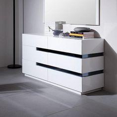 Vig Vgwcgacg02d Cg02d Contemporary White Gloss Dresser