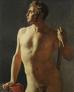Jean-Auguste-Dominique Ingres. Torso (Painted Half-Figure), 1800. Oil on canvas. 40 3/16 x 31 1/2 inches. École des Beaux-Arts, Paris (Torse 15). Courtesy American Federation of Arts.