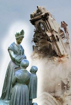 ApparitionsPlus - Sua porta de entrada para o Apparitions TV Página inicial La Salette, Faith Prayer, Blessed Mother, Virgin Mary, Statue Of Liberty, Spirituality, Beautiful, Roses, Crown