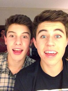 Shawn Mendes and Nash Grier ☺️