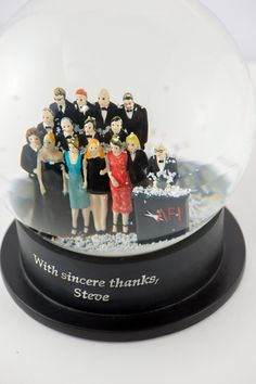 As a huge fan of Steve Martin's, it was such an honour to make these snow globes for him to give as gifts to all the amazing comics and actors who presented him with his recent AFI award! QueenOfSnowGlobes.com