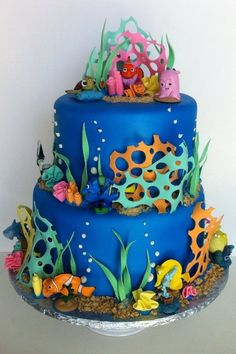 How To Make Finding NemoDory Cake Dory cake Finding nemo and Cake