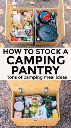How to stock a Camping Pantry + tons of easy camp meal ideas!